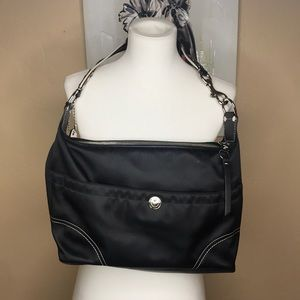 Coach hobo bag with leather details